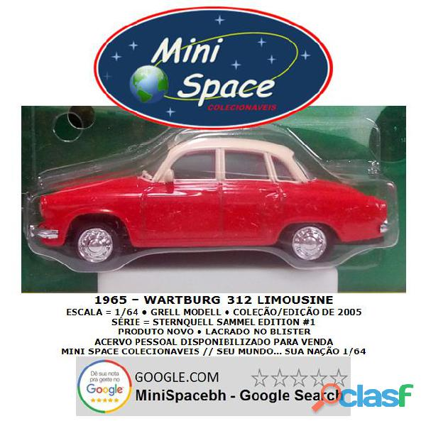 Grell Modell 1965 Wartburg 312 Limousine 1/64 2