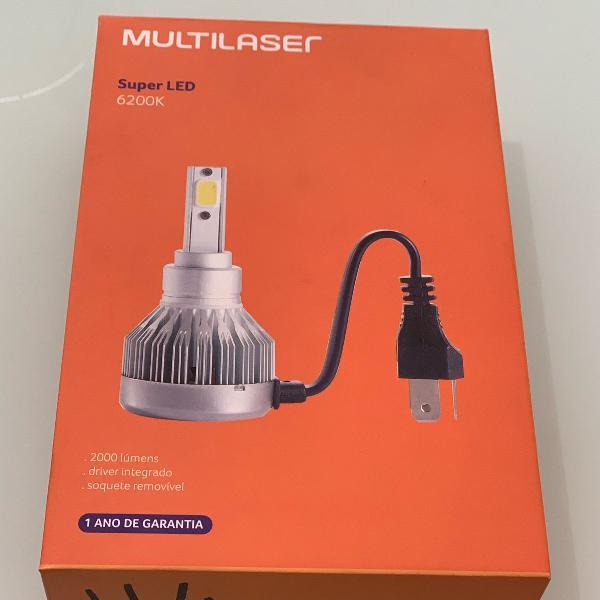 Kit xenon led lampada 6200k multilaser