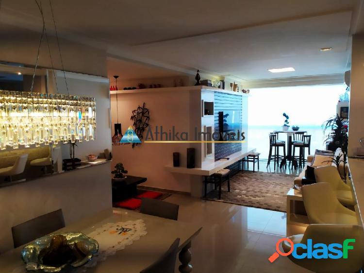 Apartamento 3 quartos 1 suíte montado decorado e vista mar praia da costa