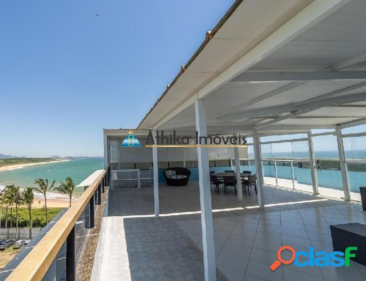 Cobertura duplex 6 suítes frente mar na praia de peracanga em guarapari