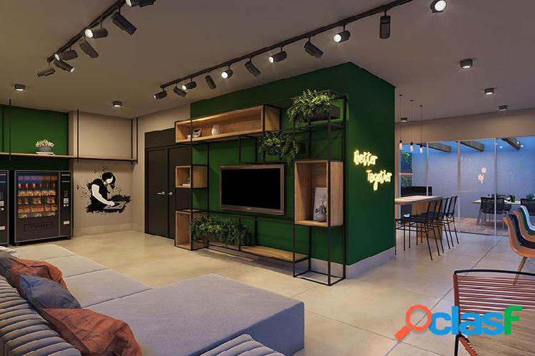 Studios modernos e inteligentes ao lado da puc com 28m²