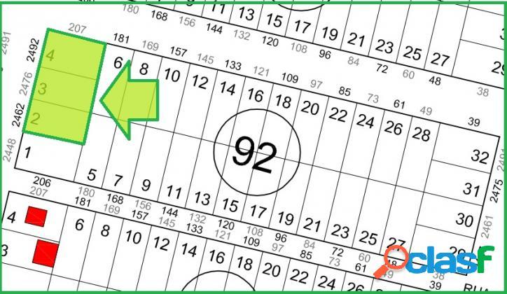 Terrenos loteamento são josé- 382,50m² cada.