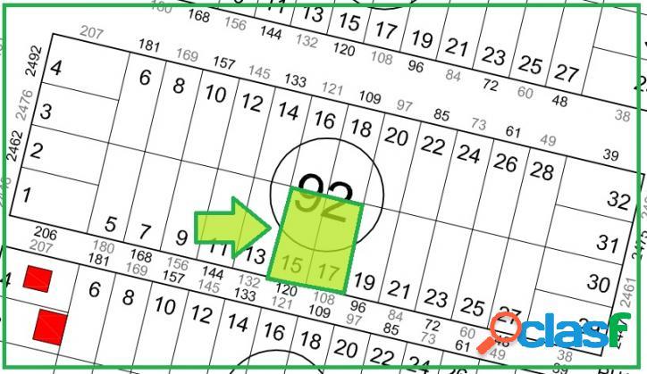 Terrenos no loteamento são josé - 360,00m² cada