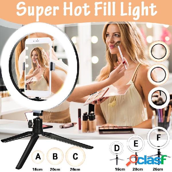 Super hot 16cm / 20cm / 26cm ring fill light lamp no / with tripé for selfie photography vlog live streaming camera video beauty