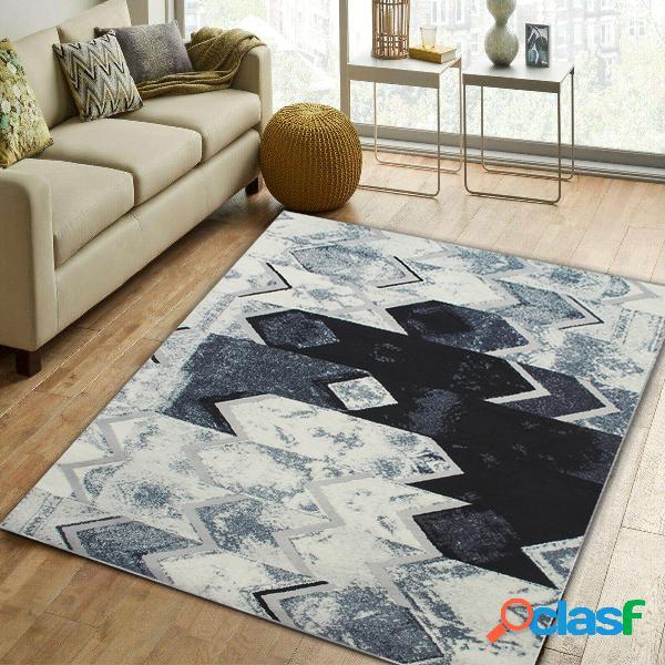 Esteira de tapete de prata cinzenta moderna abstrata do tapete do tapete do assoalho para o quarto da sala de visitas