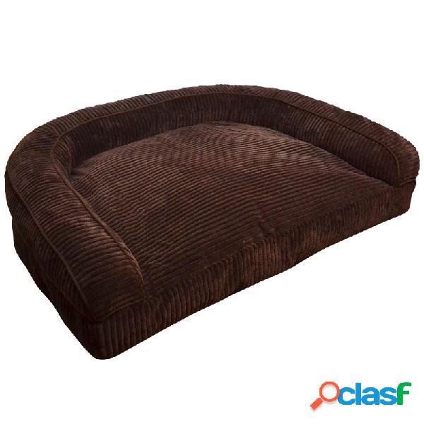 Sofá de veludo de luxo pet bolster sofá sofá cama cão gato inverno sofá canil
