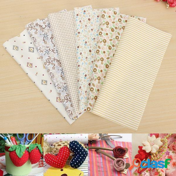 6 peças diy tecido de algodão para costura