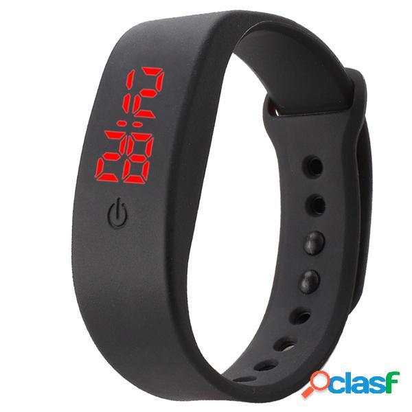 B5 relógio esportivo led digital material de silicone