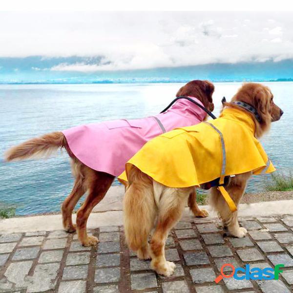 Xxl cão casaco de chuva pet jacket filhote de cachorro roupas ao ar livre à prova d 'água casaco