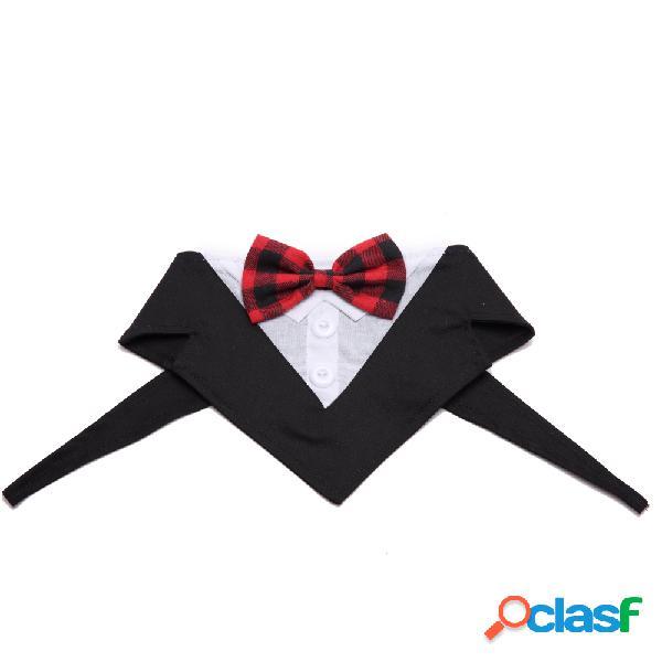 Cão formal tuxedo bandana laço gravata borboleta pet ajustável para festa de casamento