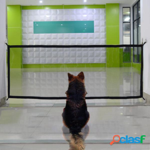 Portátil dobrável mágico portão de segurança guarda malha cerca net para animais de estimação cachorro gato do filhote de cachorro