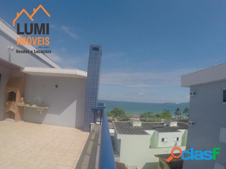Praia grande, temporada, 3 quartos, cobertura duplex