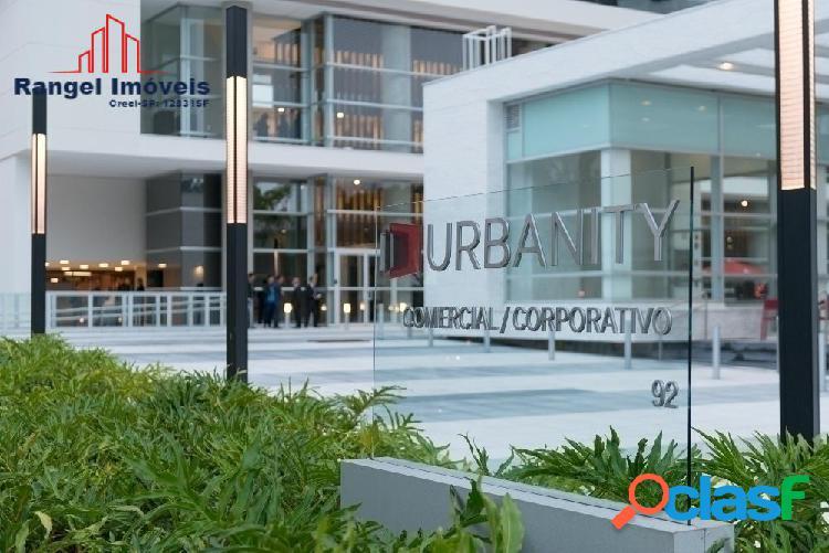 Urbanity business   sala comercial de 220,13m² - 5 vagas   4 salas junção
