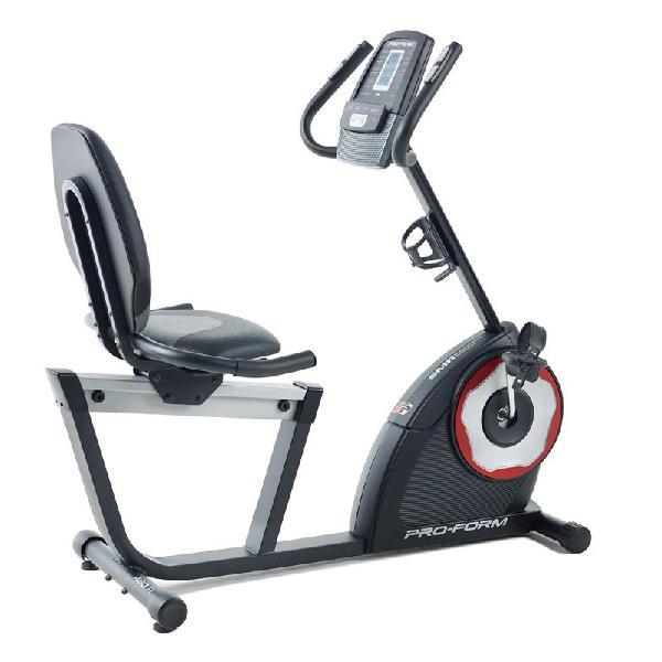 Bicicleta ergométrica horizontal 460r proform 18 níveis
