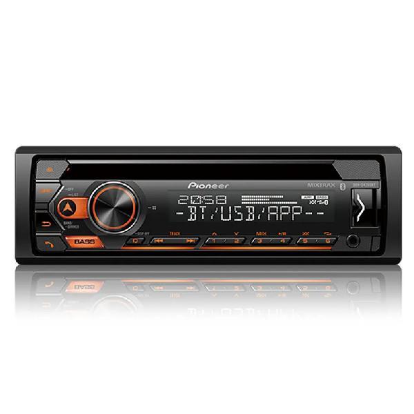 Cd player pioneer deh-s4280bt, bluetooth, usb, aux, radio