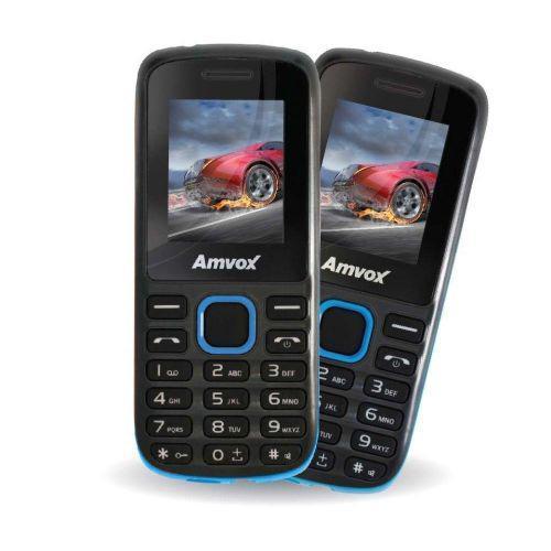 Celular amvox ax2002 - preto//azul