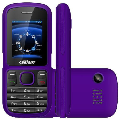 Celular bright 0417 roxo - dual chip, tela lcd 1.8/