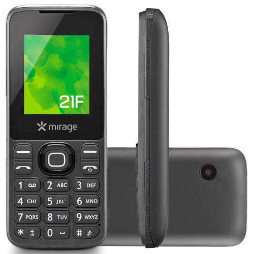 Celular mirage 21f dual chip tela 1.8/