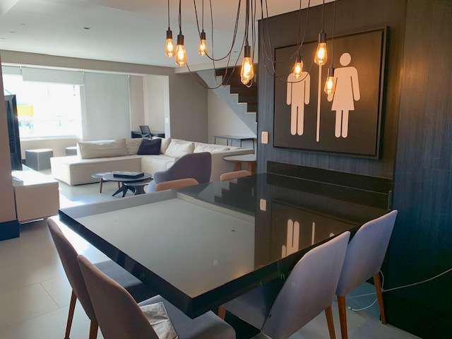 Cobertura duplex mobiliada para locação com 199 m² - vila