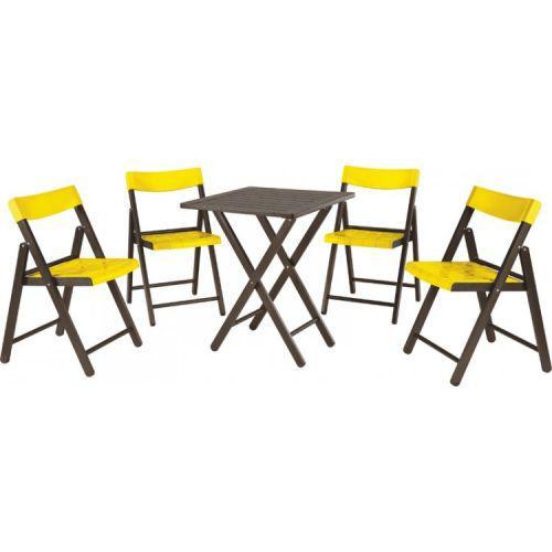 Conjunto mesa e 4 cadeiras dobr/u00e1veis potenza tramontina