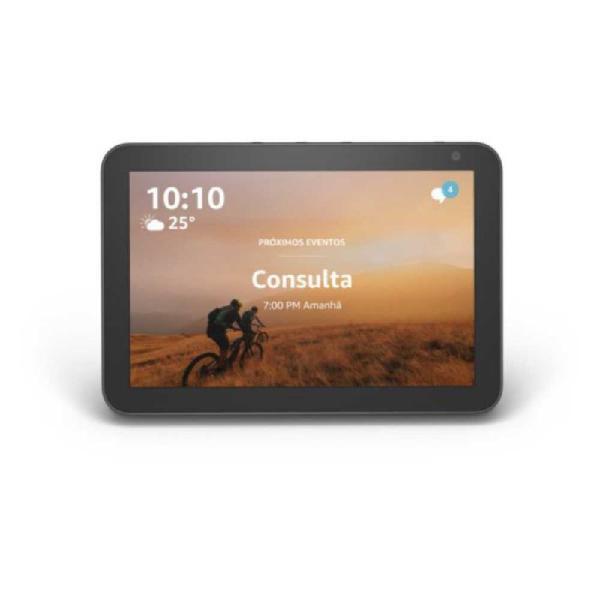 Echo show 8 amazon smart speaker preta alexa em portugues