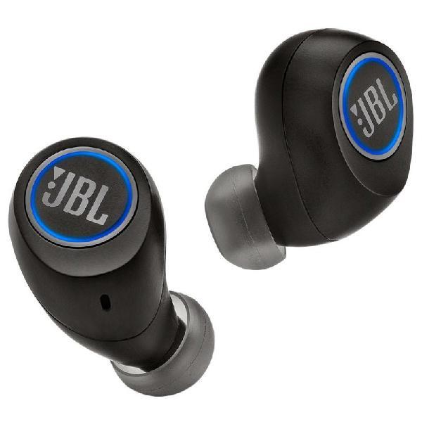 Fone de ouvido bluetooth recarregável preto intra auricular