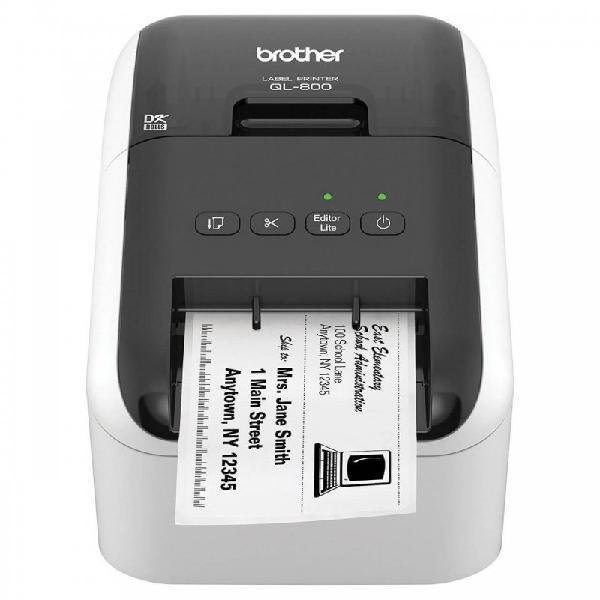 Impressora de etiquetas brother ql-800 usb ultrarrápida