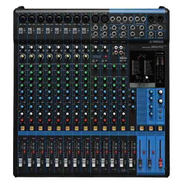 Mesa de som analógica yamaha mg16xu bivolt com 16 entradas