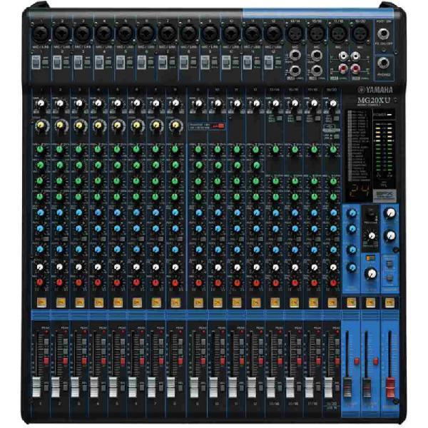 Mesa de som analógica yamaha mg20xu com 20 entradas