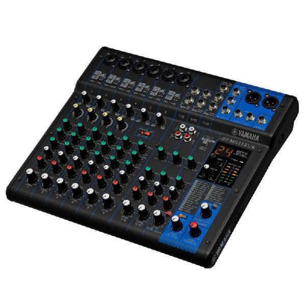Mesa de som yamaha mg12xuk com 12 entradas gravação e