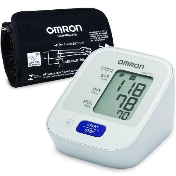 Monitor de pressão arterial digital de braço omron hem