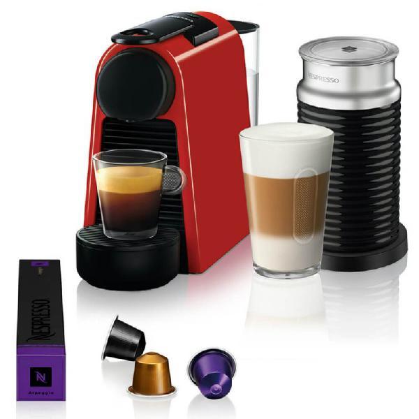 Máquina de café nespresso essenza mini d30 vermelha com