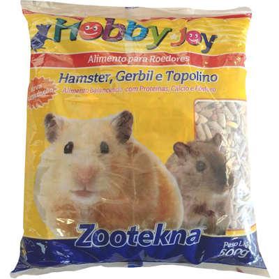 Ração para hamster, topolino e roedores hobby joy zootekna