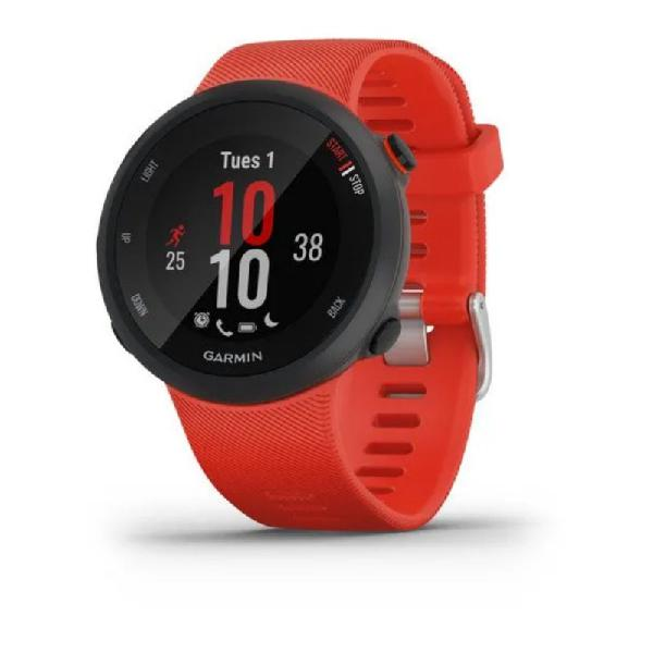 Relógio esportivo garmin forerunner 45 vermelho com gps e