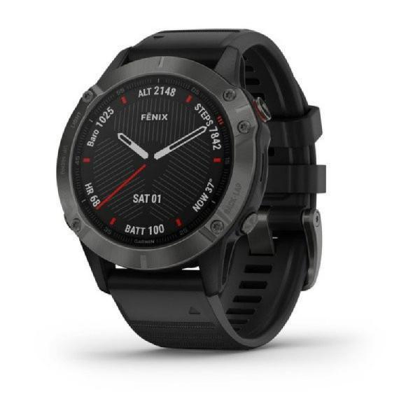 Relógio multiesportivo garmin fenix 6 pro cinza com