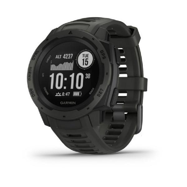 Relógio multiesportivo garmin instinct preto com monitor