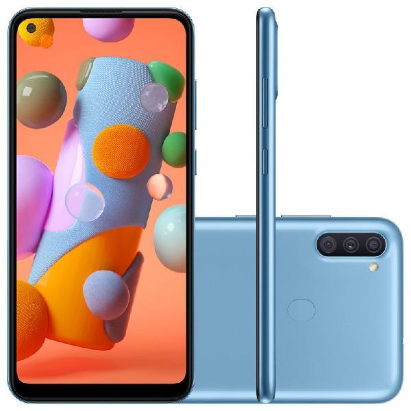 """Samsung galaxy a11 6,4"""" dual chip 64gb 3gb ram azul octa"""