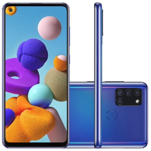 "Samsung galaxy a21s 6,5"" dual chip 64gb 4gb ram azul octa"