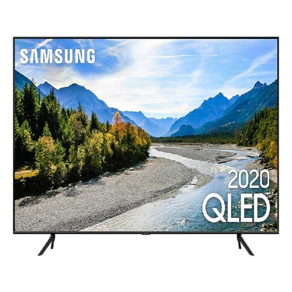 "Samsung smart tv qled q60t 4k 55"" borda ultrafina visual"