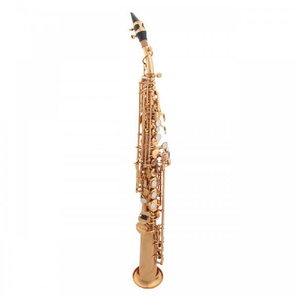 Sax soprano reto dolphin com acabamento laqueado e