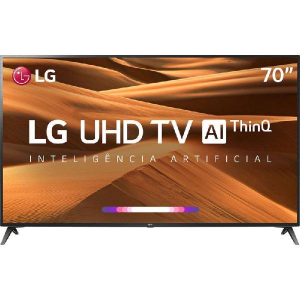 """Smart tv led 70"""" uhd 4k lg 70um7370 thinq ai hdr ativo webos"""