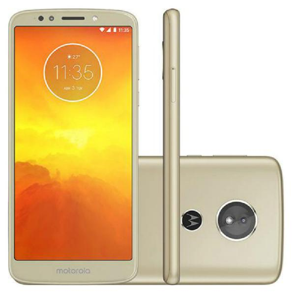 Smartphone moto e5 ouro dual chip 32gb 13mp android 8.0 tela