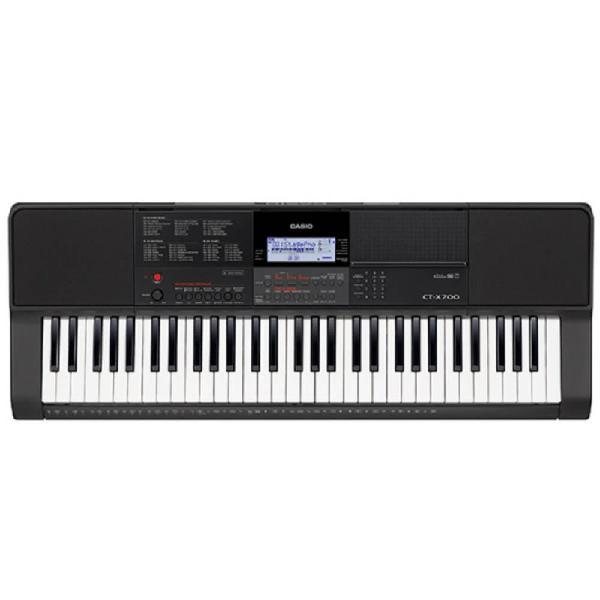 Teclado musical casio ct-x700 bivolt preto com 61 teclas
