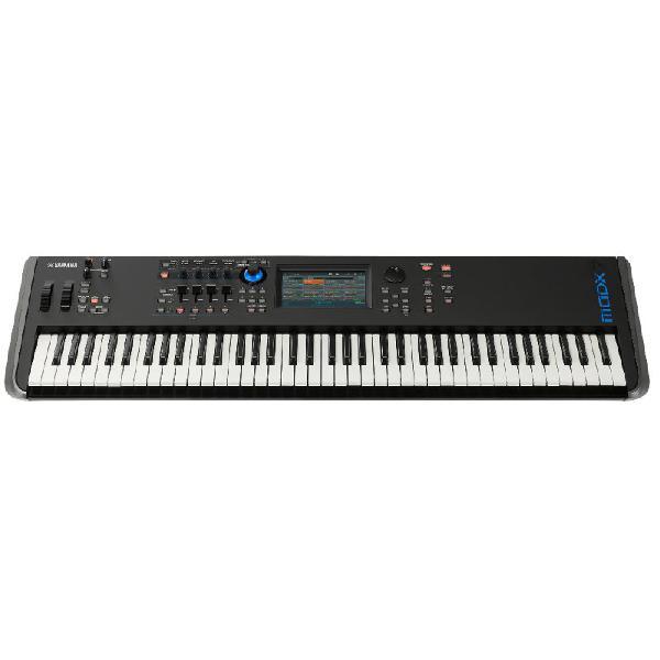 Teclado sintetizador yamaha modx-7 com 76 teclas preto