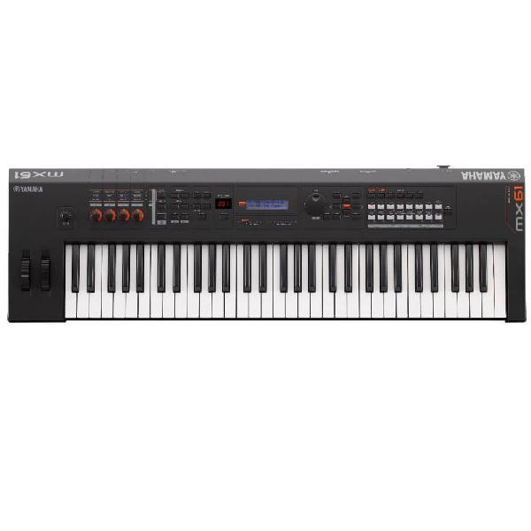 Teclado sintetizador yamaha mx61 bk preto 61 teclas mais de