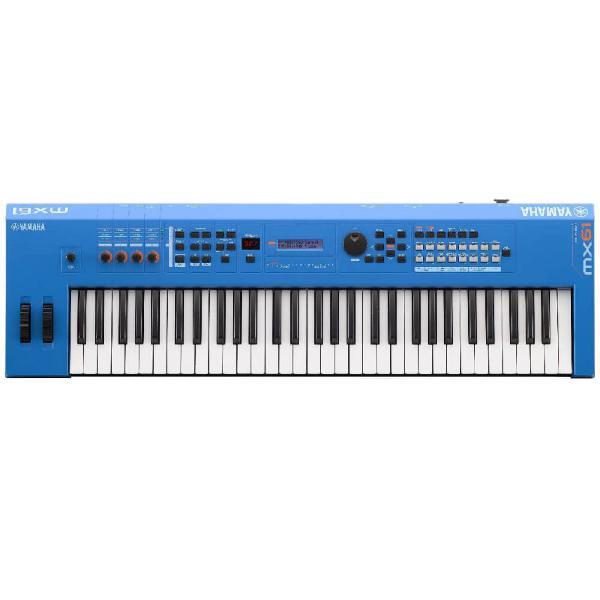 Teclado sintetizador yamaha mx61 bu azul 61 teclas mais de