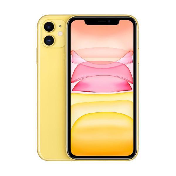 """Iphone 11 apple amarelo 128gb tela liquid retina hd 6.1"""""""