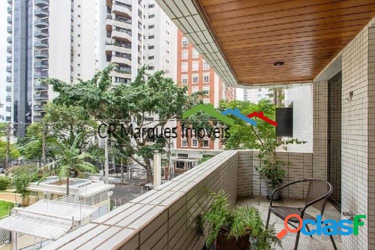 Apartamento mobiliado com 166 m², 3 suítes 3 vagas - brooklin.