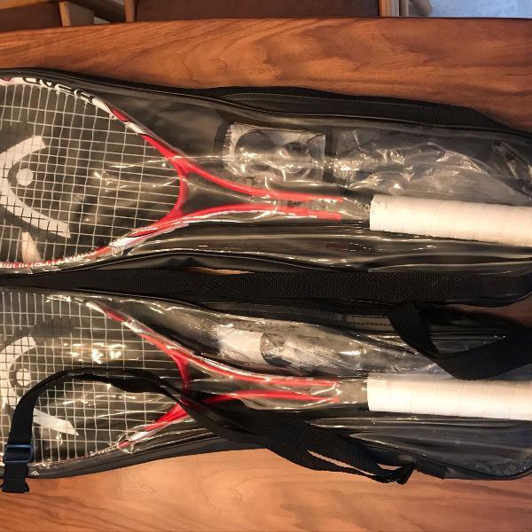 2 raquetes squash head