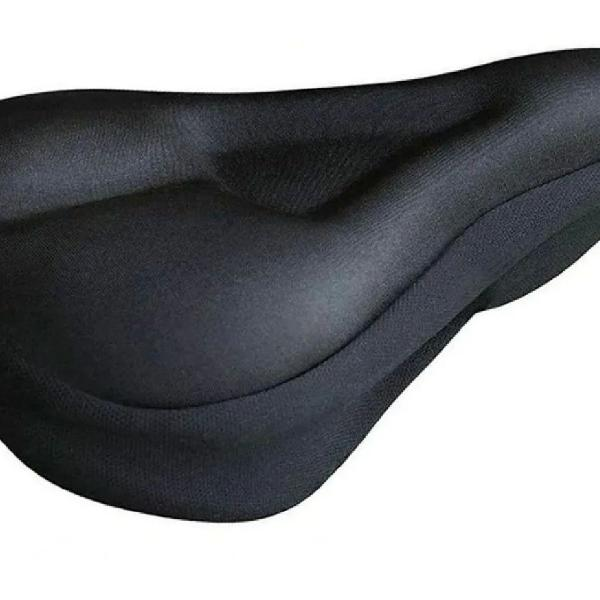 Capa selim almofada gel banco bike forro ajustável